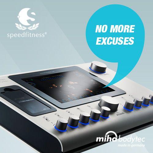No more excuses! #mihabodytec #mihabodytecII #emsworkout #personaltraining #bodyshaping #weightloss #musclebuliding #electrostimulation More information: www.miha-bodytec.com www.speedfitness.com