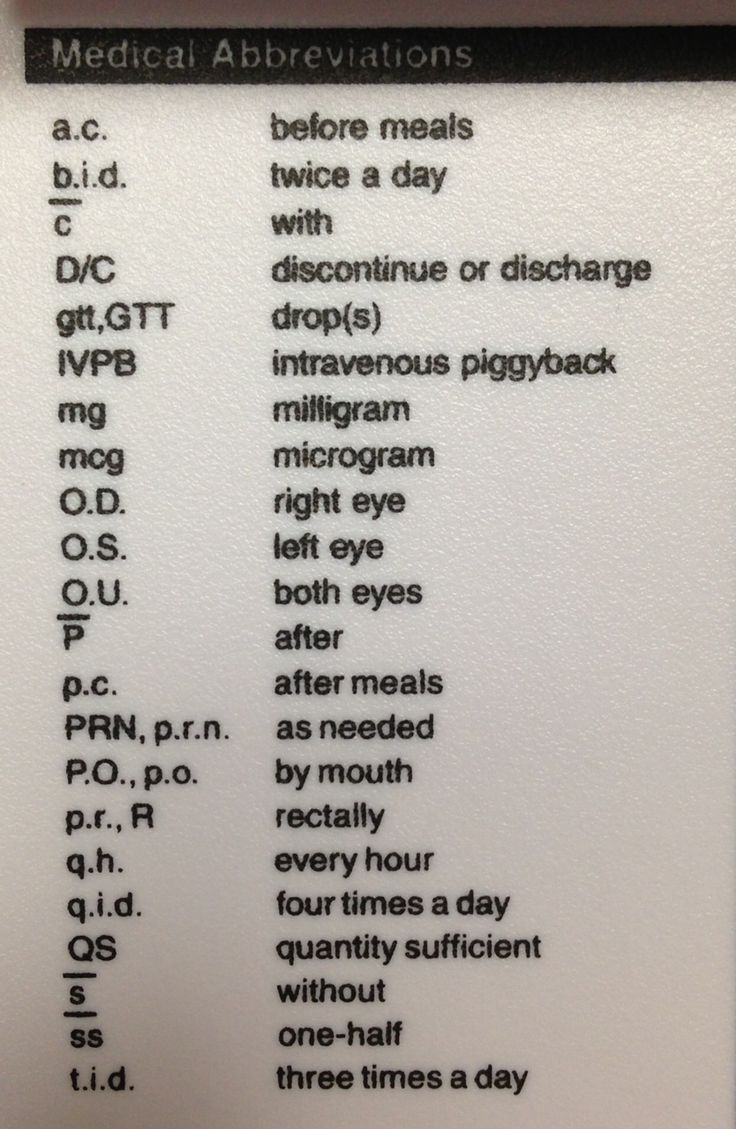 Medical Abbreviations- this will hopefully be helpful with my medical terminology class!