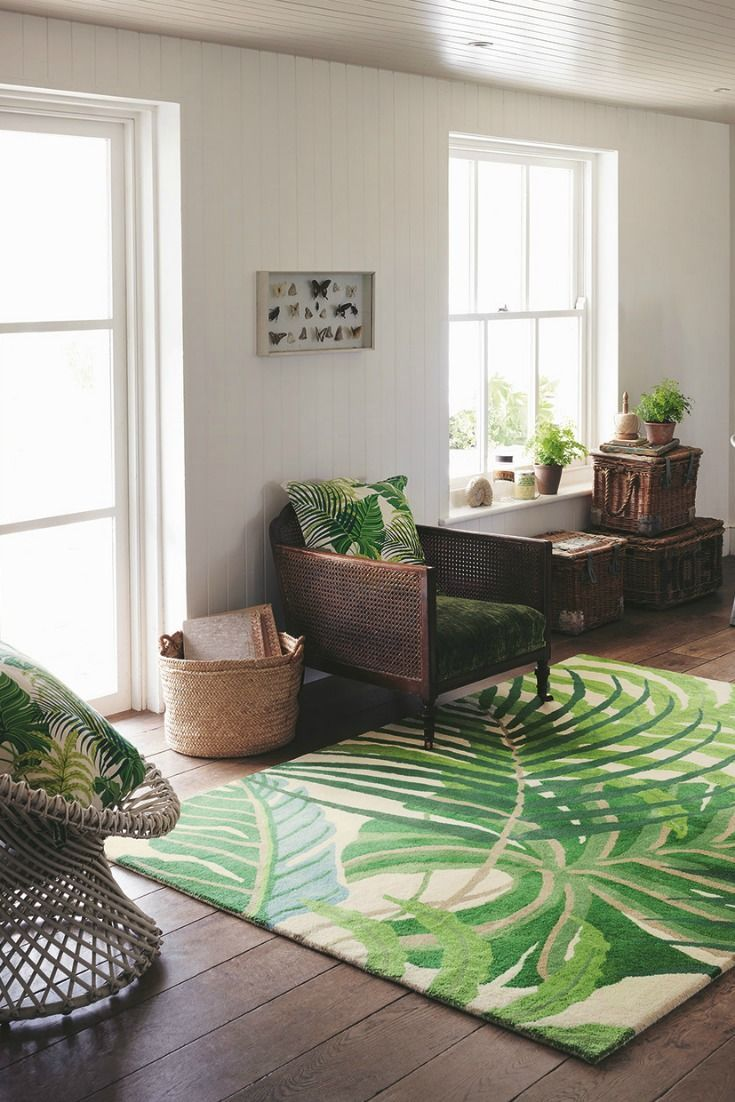 Manila Green By Sanderson Rug 46407