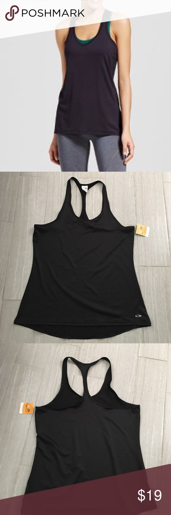 🏹🍉 Champion Duo Dry Black Racerback Tank Top Brand new with tags. Champion stretch duo dry tank top. Low back racerback. Whisks moisture and dries fast! Bundle discount = 20% off 3 or more items 🎉 Champion Tops Tank Tops