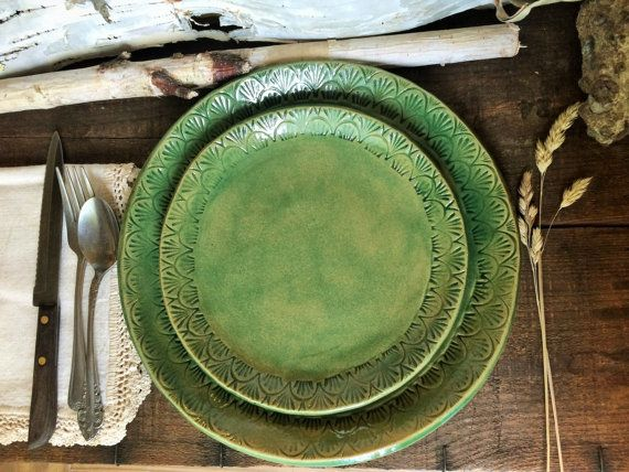 Hey, I found this really awesome Etsy listing at https://www.etsy.com/listing/469541510/rustic-dinnerware-set-dinner-plate
