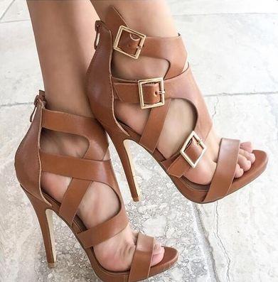 Shop Clearance Items Online Summer Women New Sequined Thin Heels Zip Fashion Sandals Casual Shoes www.essish.com/?utm_content=buffer4c681&utm_medium=social&utm_source=pinterest.com&utm_campaign=buffer