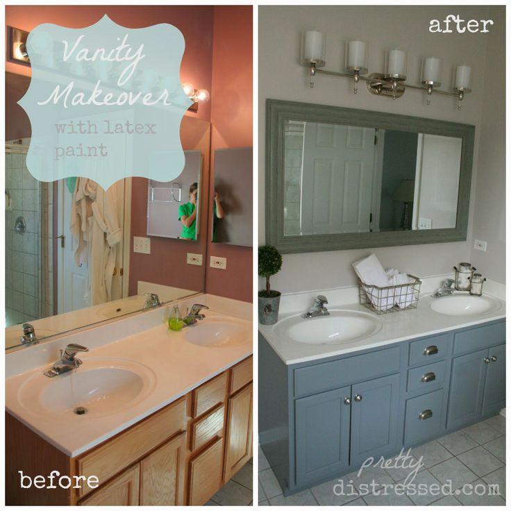 Builders Grade Teal Bathroom Vanity Upgrade For Only $60 | Builder Grade,  Clever And Vanities