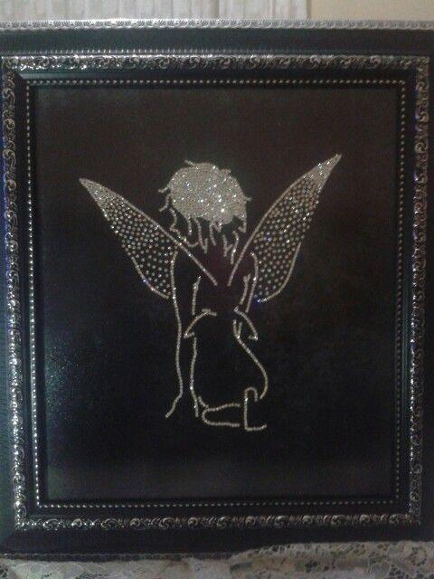 Swarovski stone processing angel pattern ( melek deseni taş işlemeciliği)