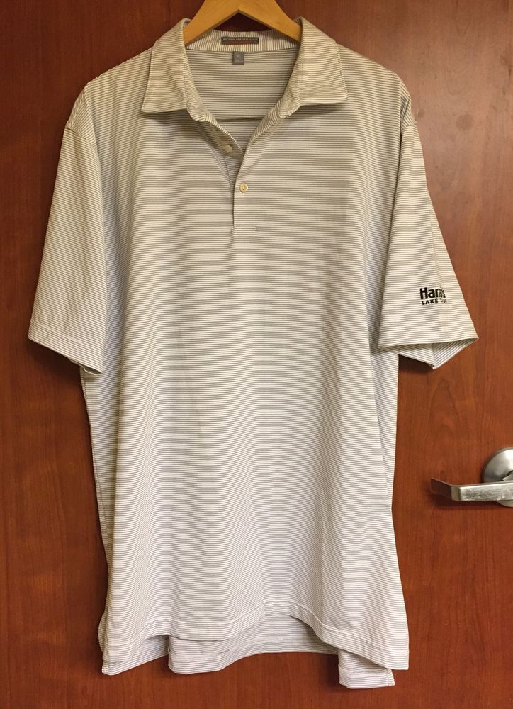 ☀Men's PETER MILLAR☀SUMMER COMFORT Golf Polo Shirt XL Harrah's Tahoe  | eBay