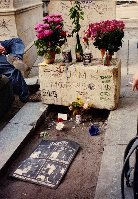 Pere lachaise cemetery   Jim Morrison, 1990