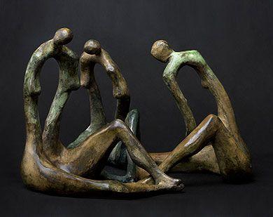 """""""Three sisters Bronze Www.polishsculptors.pl"""