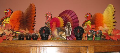 Decorating Ideas > Thrift Store Turkey Figure Finds  Early Winter  ~ 080207_Thanksgiving Vintage Decorations