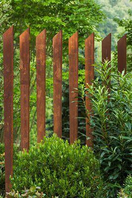 coretn steel fence - Gardening Life