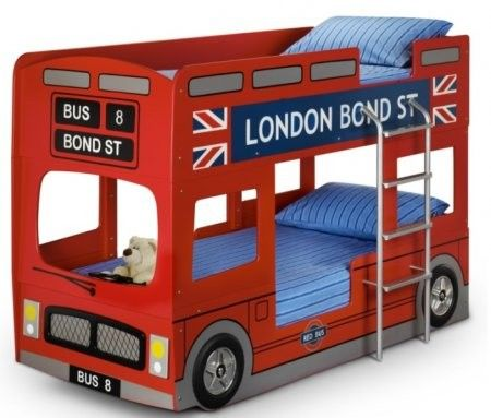 London Bunk Bed: The trendy London Bunk Bed Bus newly designed by an Julian Bowen. Wonderful for your little ones to dream in whilst sleeping.