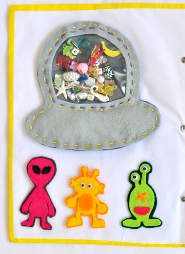 alien I spy space ship - aliens and ship all with velcro