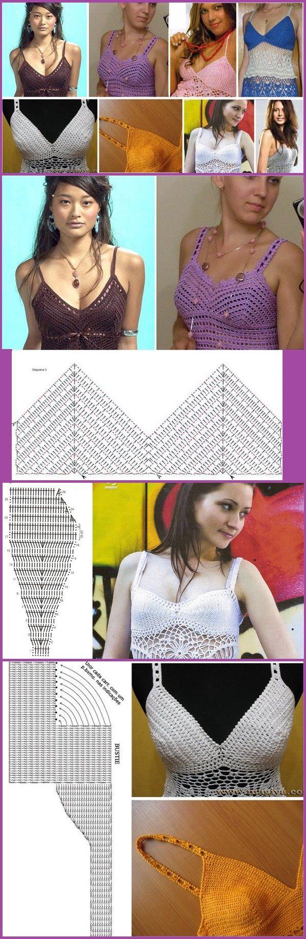 Corpete da crochê para vestidos, blusas, etc