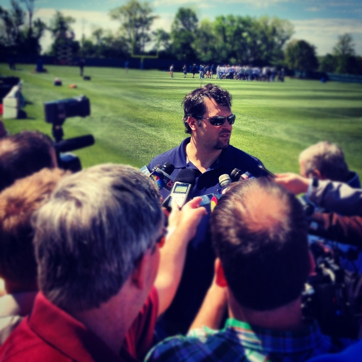 GM Ryan Grigson announcing to the media that Andrew Luck will be the #1 pick in the NFL Draft.