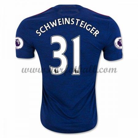 Billige Fotballdrakter Manchester United 2016-17 Schweinsteiger 31 Borte Draktsett Kortermet