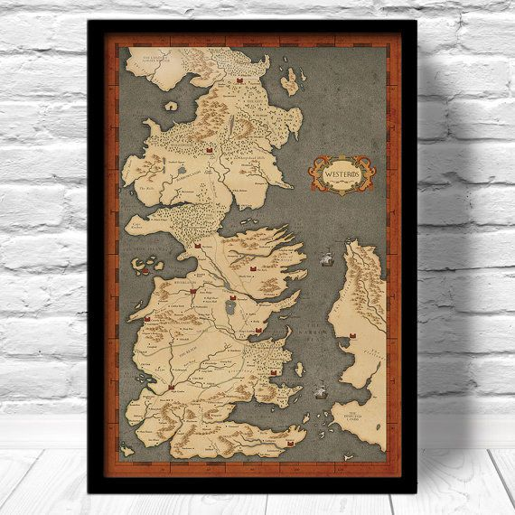 Hang Up This Illustrated Map Of Westeros In Your Study Game Thrones