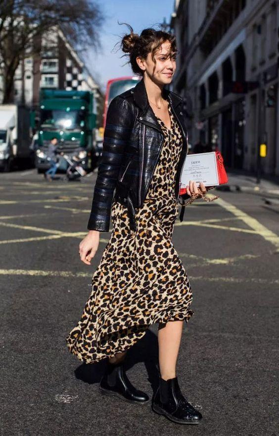 d8a830fd5f82 21 ideas de outfits para vestir animal print | Leopardo | Vestido de ...