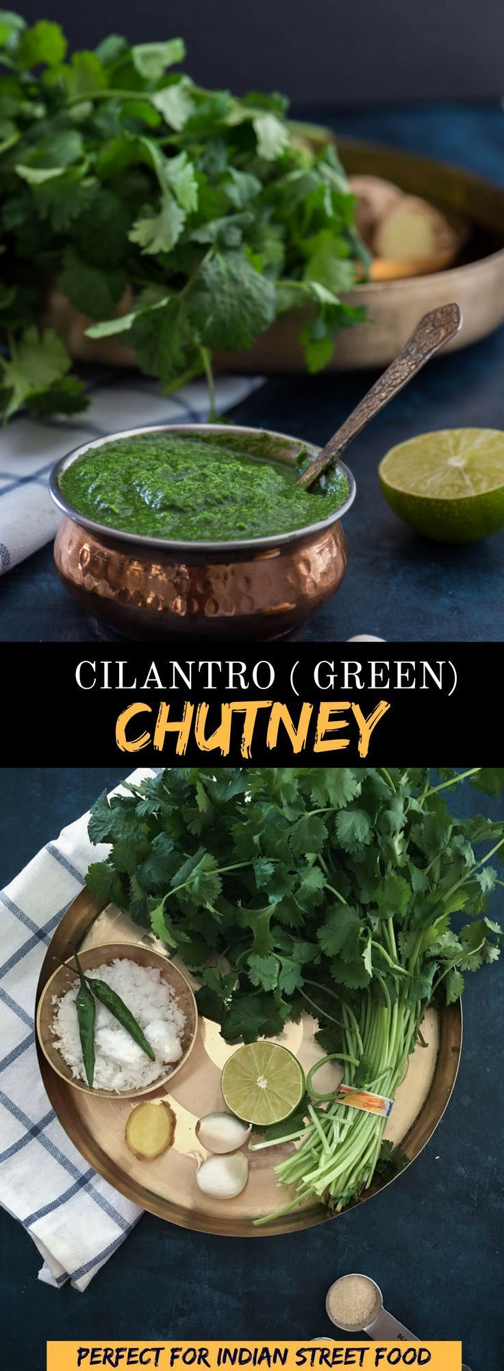 Learn how to make this simple and flavorful coriander or cilantro chutney and master the secret that makes most Indian street food so finger-licking good. via @simmertoslimmer