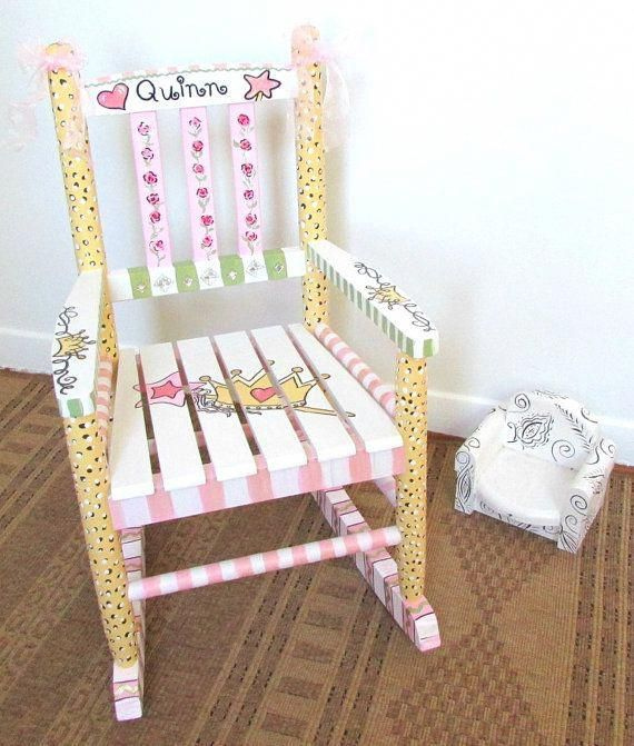 Child Rocking Chair Custom Personalized Nursery Decor Children