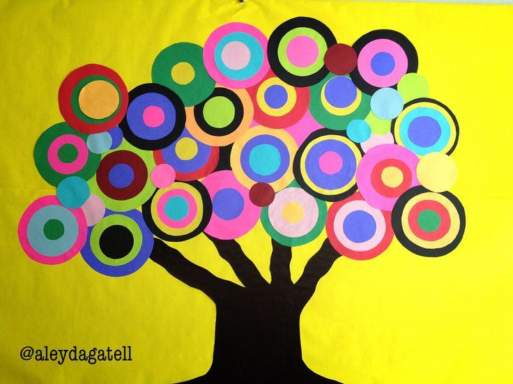 Rbol de color decoraci n en aula o biblioteca escolar for Decoraciones para hojas