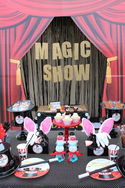 """Abracadabra! It's time for """"Dylan the great"""" to perform his amazing magic tricks. He will make a fun magic party appear right before your eyes! When I saw how cute the ShindigzAb…"""