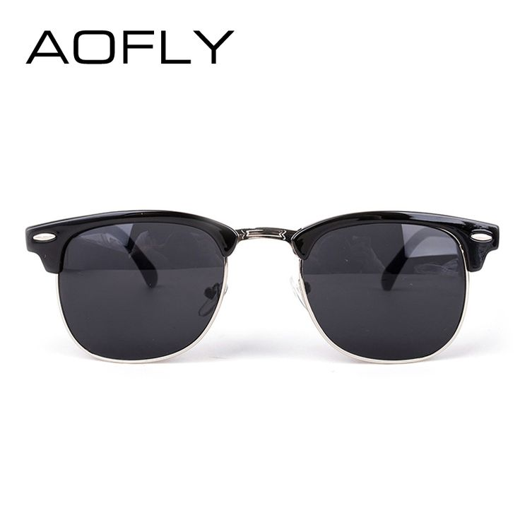 AOFLY CLASSIC Half Metal Sunglasses Men Women Brand Designer Glasses G15 Coating Mirror Sun Glasses Fashion Oculos De Sol PS1580 Like if you are Excited! #shop #beauty #Woman's fashion #Products #Classes