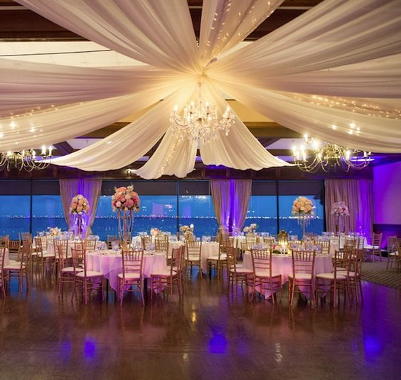 Photographer: Andi Diamond Photography, Via Northside Florist; Sophisticated grand ballroom wedding reception;