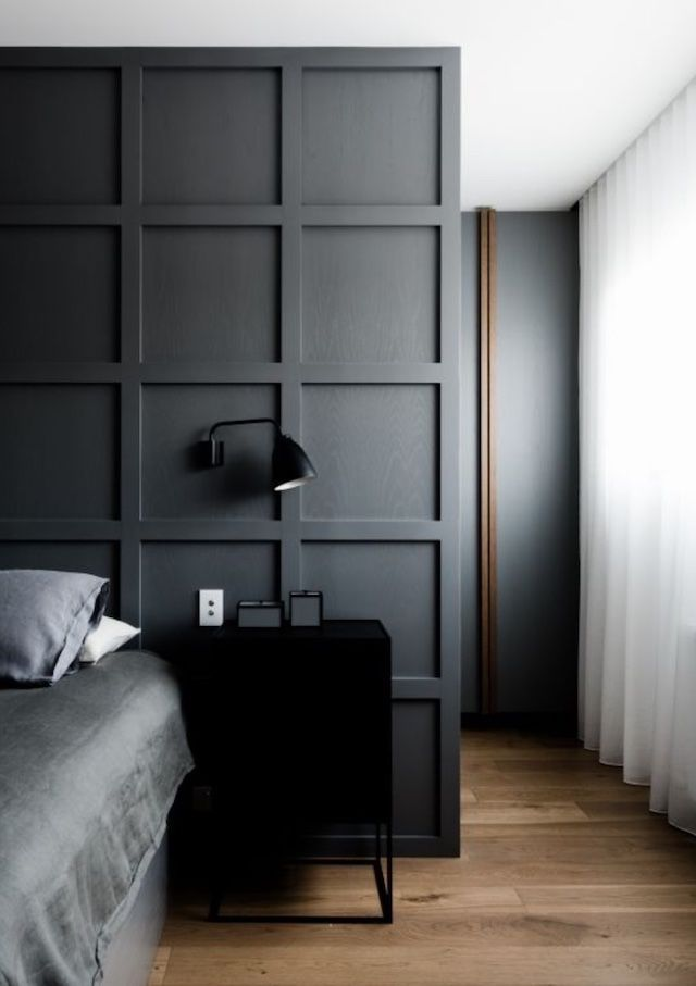 25 best ideas about dark bedrooms on pinterest modern for Black and blue room designs