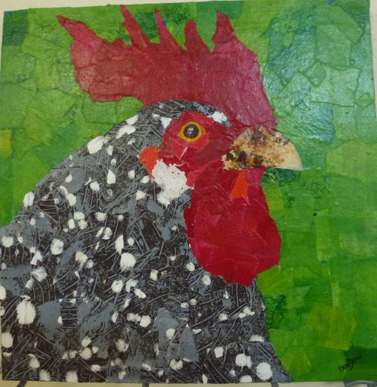 Torn paper painting