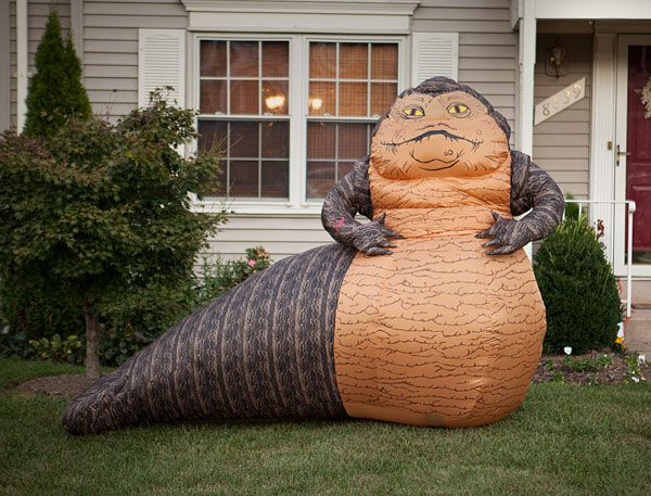 Inflatable 'Star Wars' Jabba the Hutt Lawn Ornament