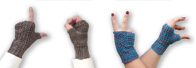 Ravelry: Wheat and Clover Fingerless Gloves pattern by Caroline Steinford