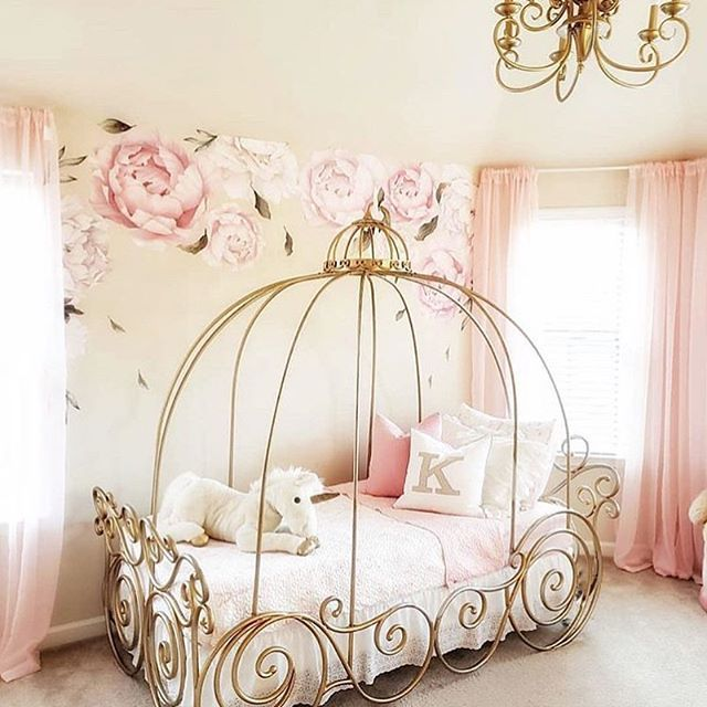 The Ultimate Princess Room Featuring Our Peony Wall Stickers That