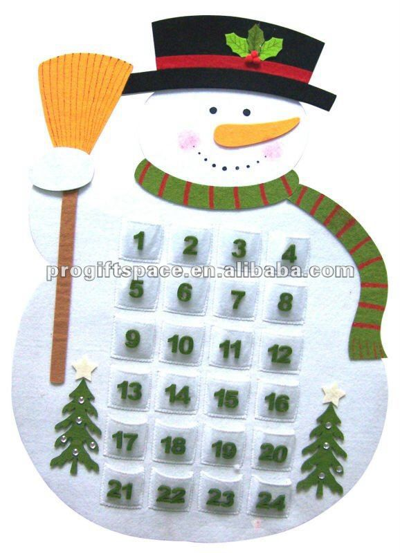 Imagen de http://i00.i.aliimg.com/photo/v6/428186746/Felt_Snowman_Advent_Calendar_with_Broom.jpg.