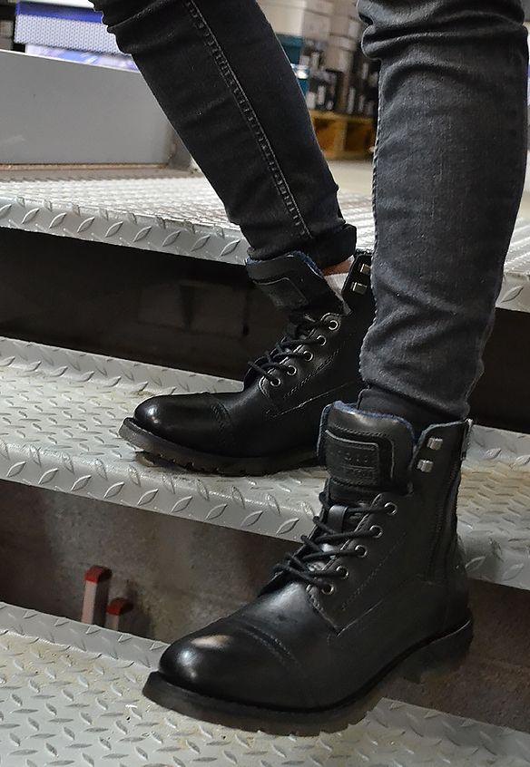 bottines bugatti noires