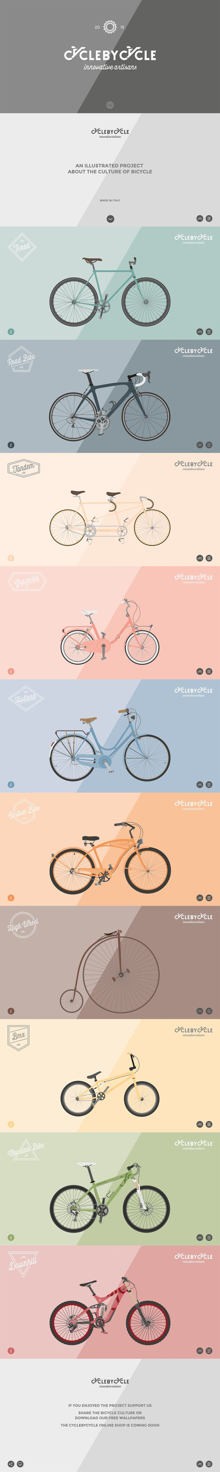 CycleByCycle. What's your favorite? (More design inspiration at www.aldenchong.com)