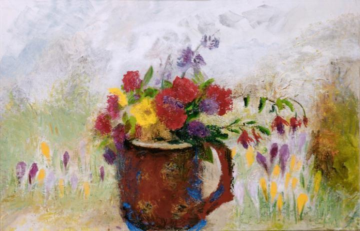 Brown Jug of Flowers   Winifred Nicholson