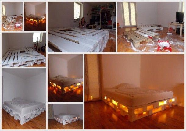 Idéias Interior | A cama feita de paletes. Por Felipa