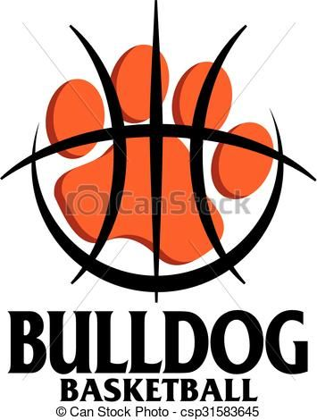 Vector - bulldog basketball - stock illustration, royalty free illustrations, stock clip art icon, stock clipart icons, logo, line art, EPS picture, pictures, graphic, graphics, drawing, drawings, vector image, artwork, EPS vector art