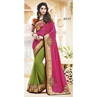 Diwali fashion Designer  Embriodery Elegant Saree for Pure Ethnic Looks