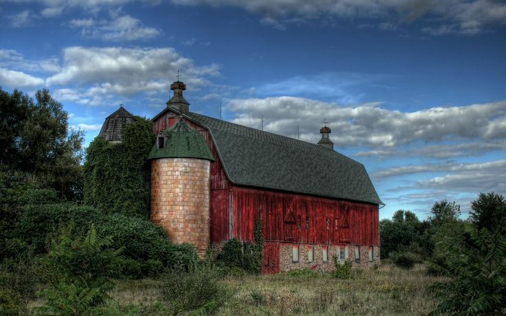 Country Barn Scene | ... barn hdr wallpaper old country ...
