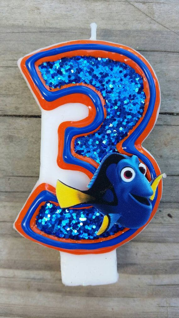 Finding Dory Birthday Candle Finding Nemo by LilMonkeyStitchesWV
