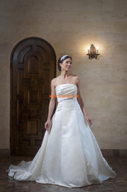 Church Strapless Sleeveless Wedding Dresses 2014