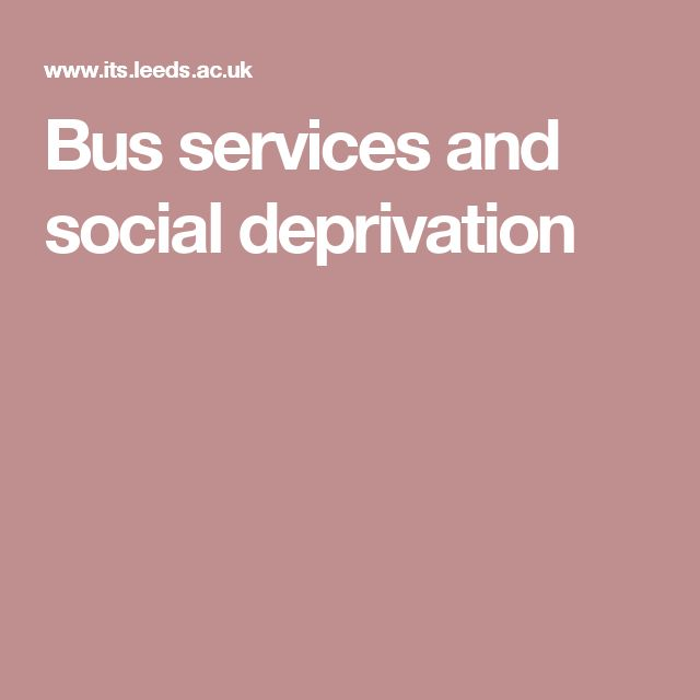 Bus services and social deprivation