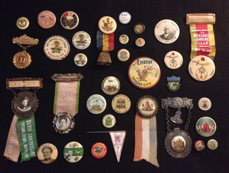 Fraternal Orders in my collection. IOOF, Rebekah, Order of Moose, Knights of the Macabees, etc.