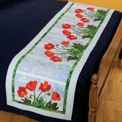 appliqued bed runner