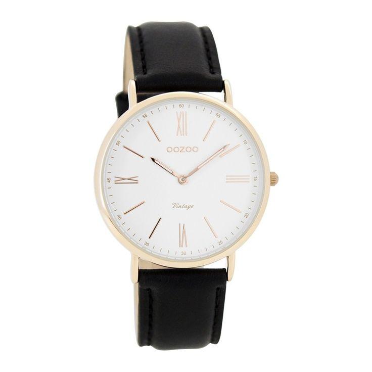 OOZOO Vintage horloge Zwart C7717