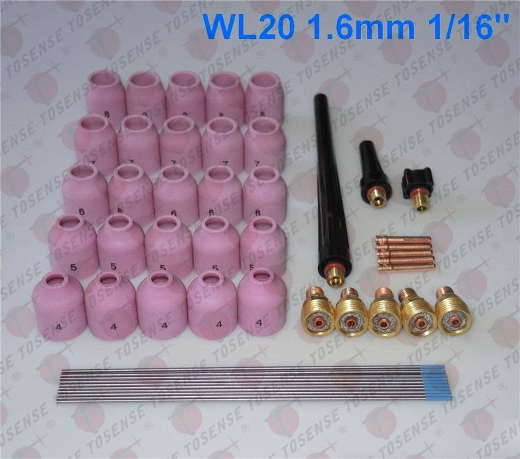 44.99$  Watch now - http://ali501.shopchina.info/go.php?t=32720307118 - 48pcs TIG Welding Kit Gas Lens for Tig Welding Torch WP-9 WP-20 WP-25 WL20 1/16  #aliexpress