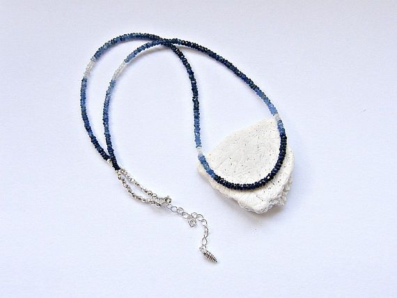 September birthstone necklace blue sapphire necklace