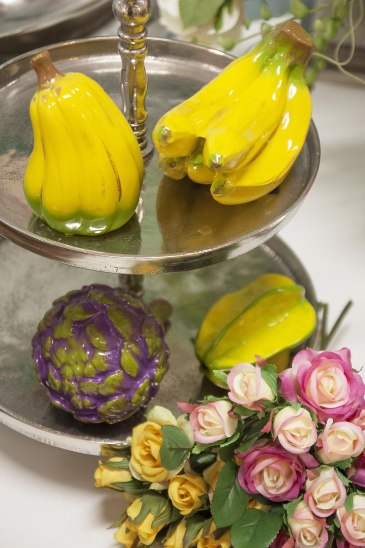 Decorative Fruits #HomeSweetHome #GreenApple #GAhomestyle #homestyle #ceramic #cozy #bananas #vegetable #exotic