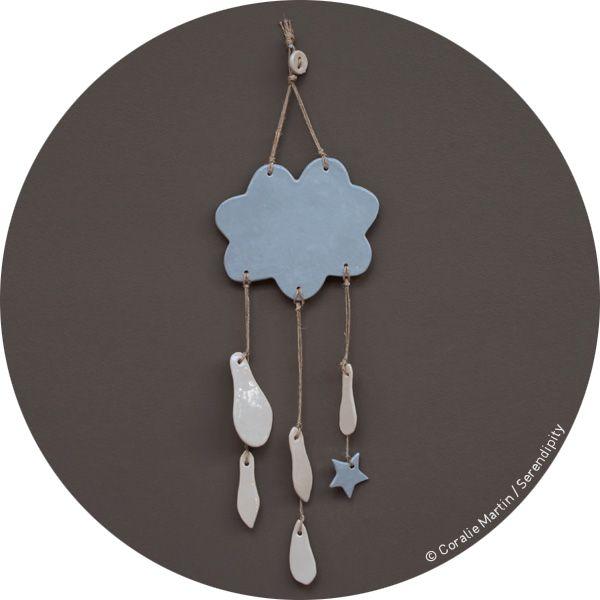 mobile nuage en céramique .:serendipity.fr:.