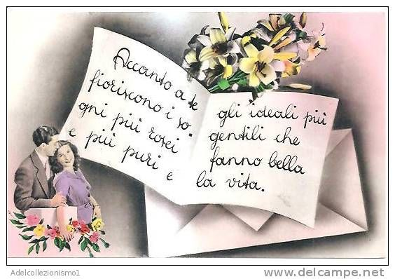 Auguri Matrimonio Amici Intimi : Cartolina illustratoria serie promesse di matrimonio
